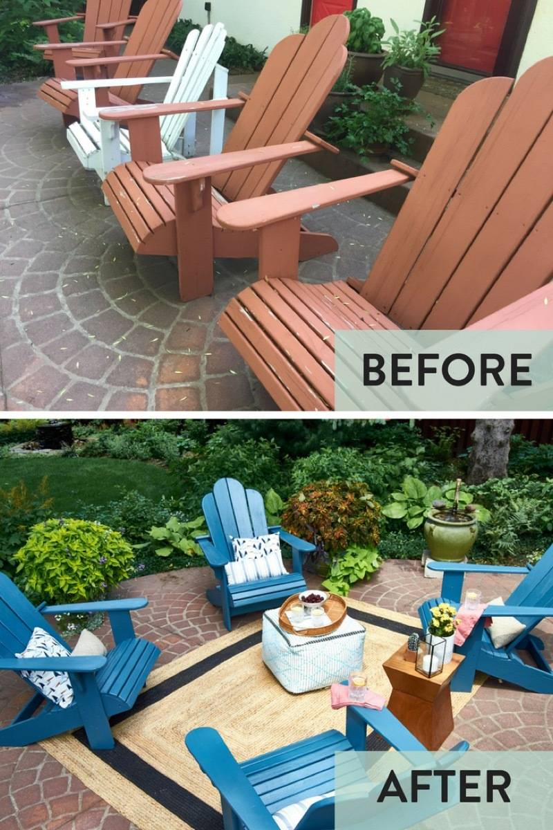 Patio chairs before & after