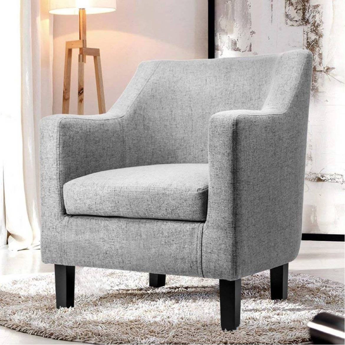 Fabric accent chair from Amazon