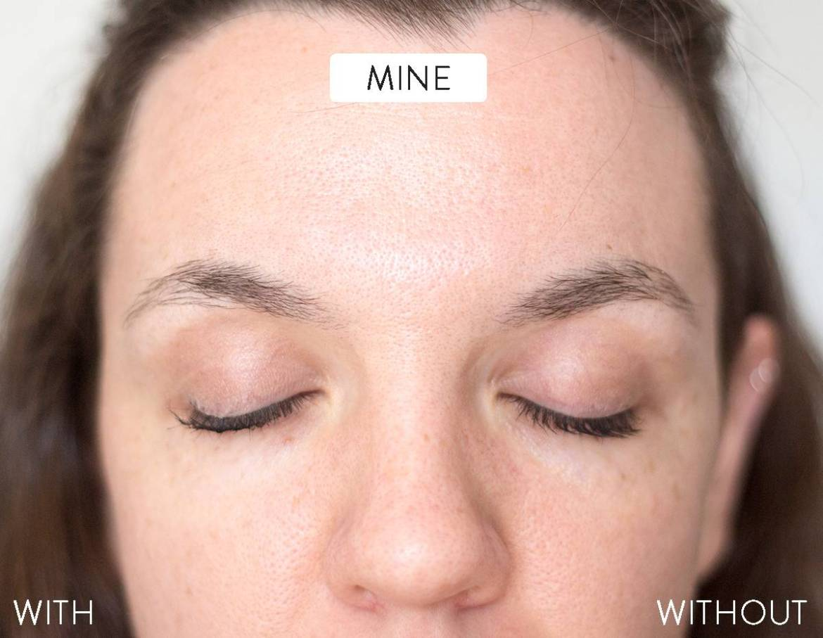 With baby powder and without - Testing a Pinterest beauty hack
