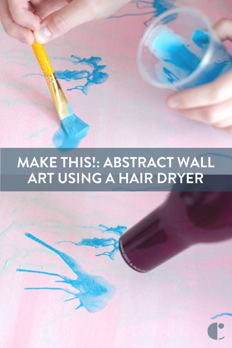 Abstract wall art using a hair dryer