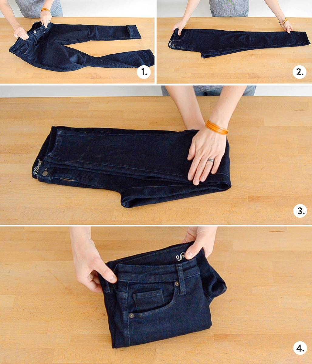How to fold pants