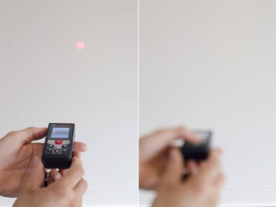 Measuring distance with the Bosch Laser Measure