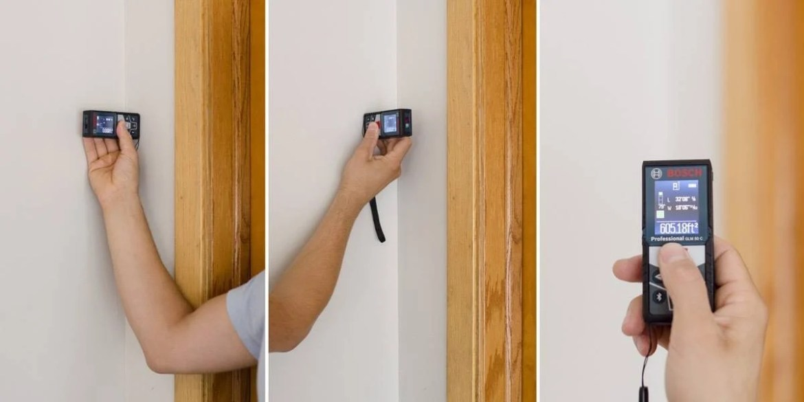 Finding the area of a room with the Bosch Laser Measure