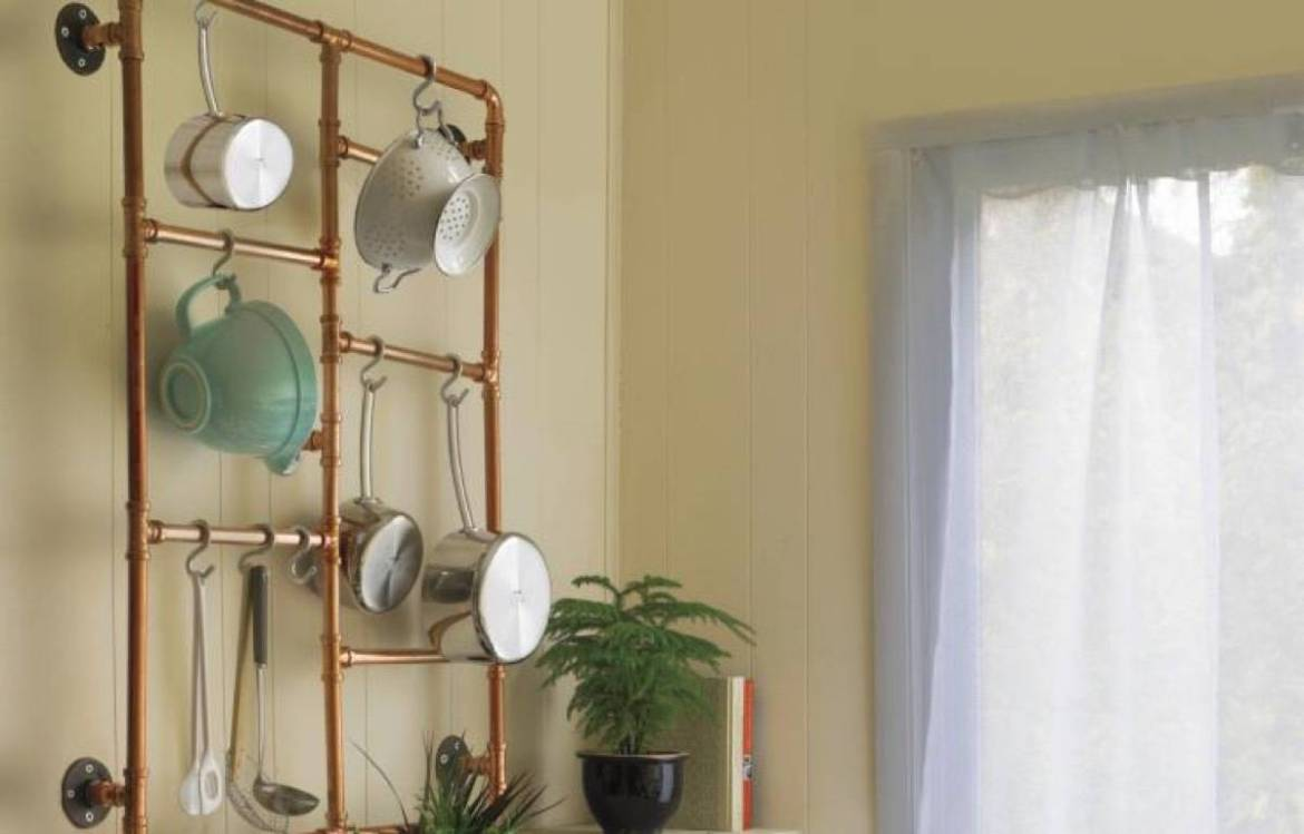 Copper pots and pans organizer