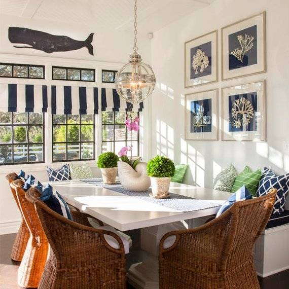 Nautical influenced dining room