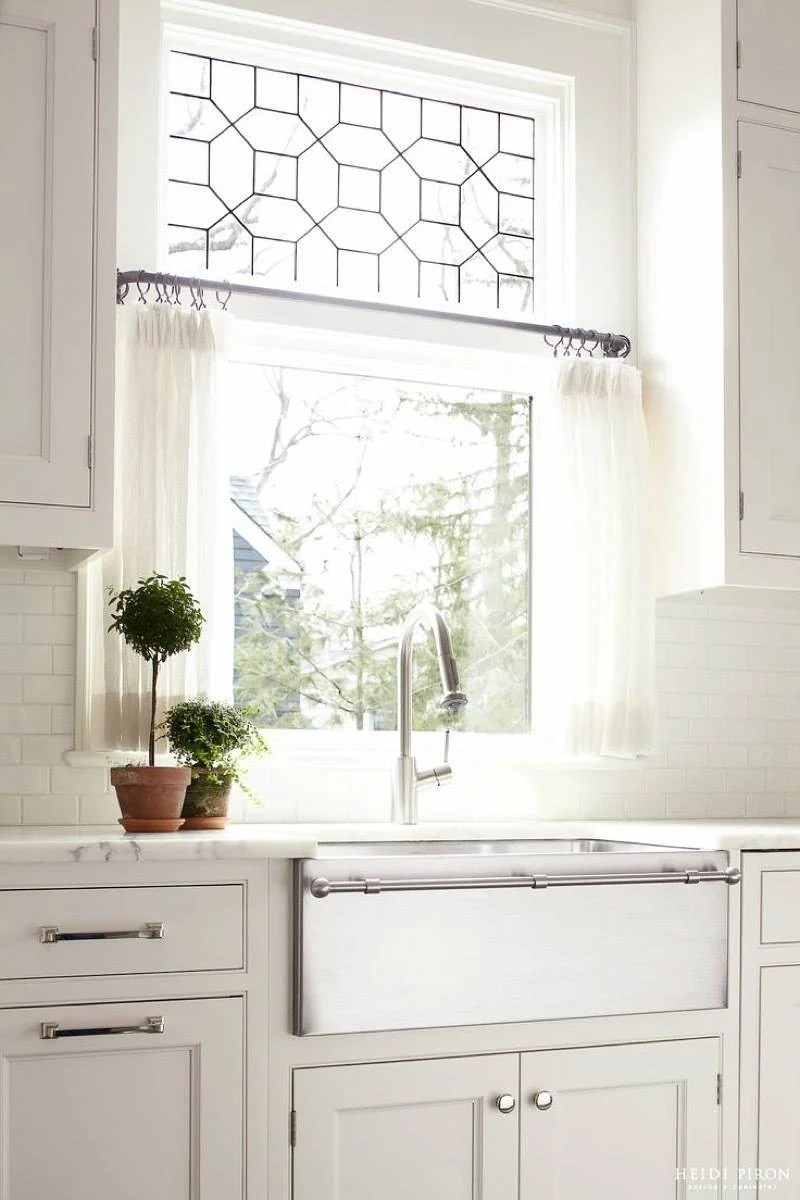 Cafe curtains in kitchen