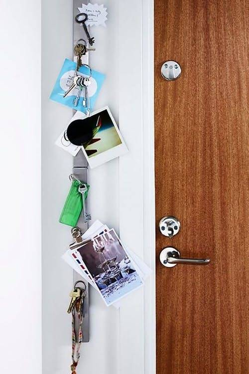 Organize your entryway with a magnetic knife strip