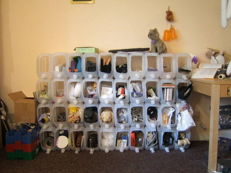 Storage made from water jugs