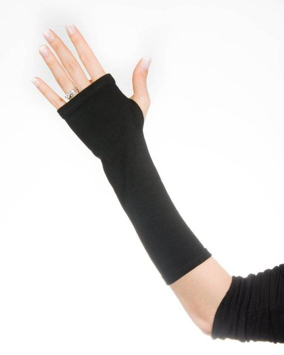 jersey fingerless gloves