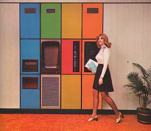 1970s colorful cabinets
