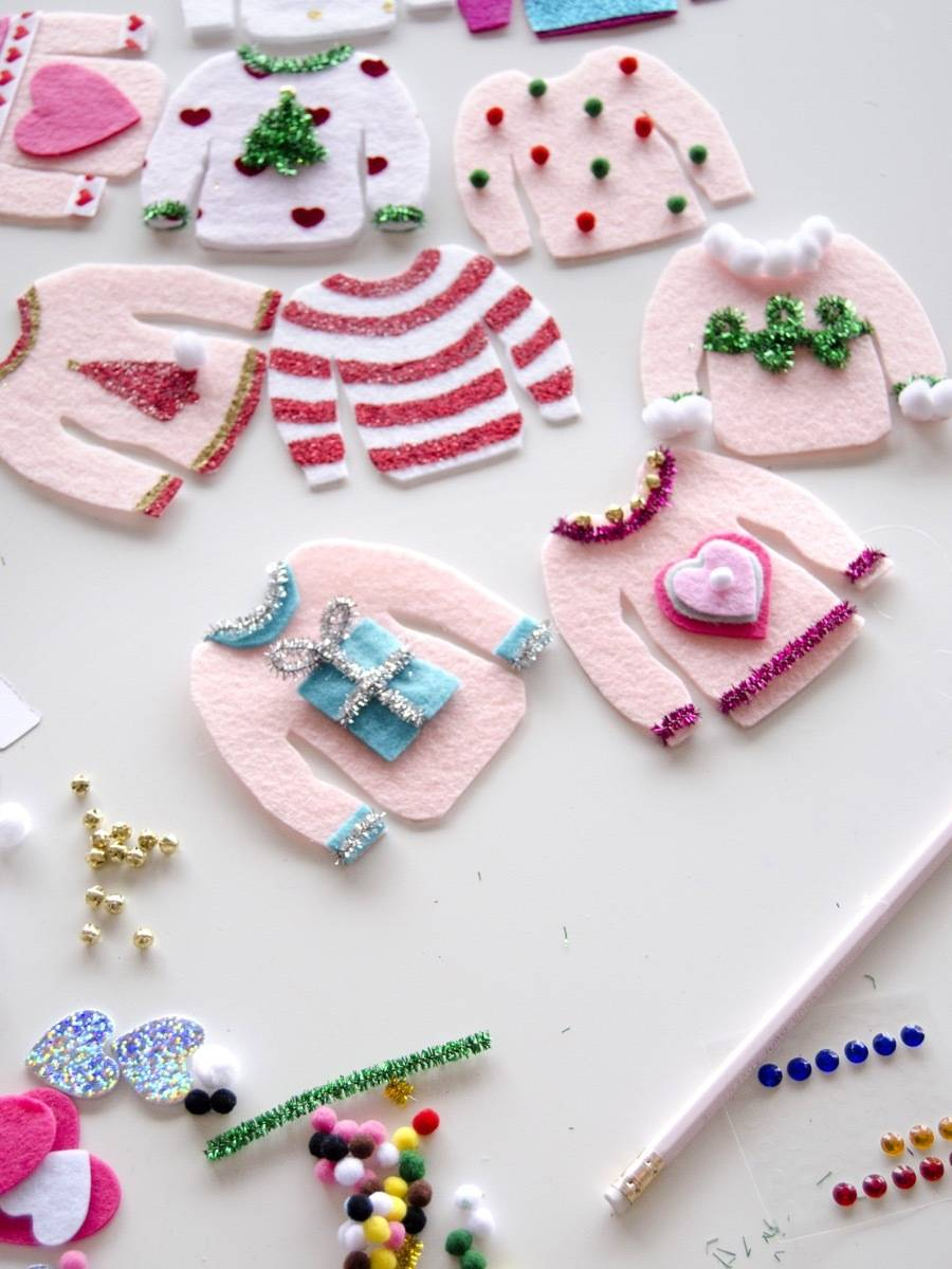 Step 2 | Ugly Christmas sweater garland