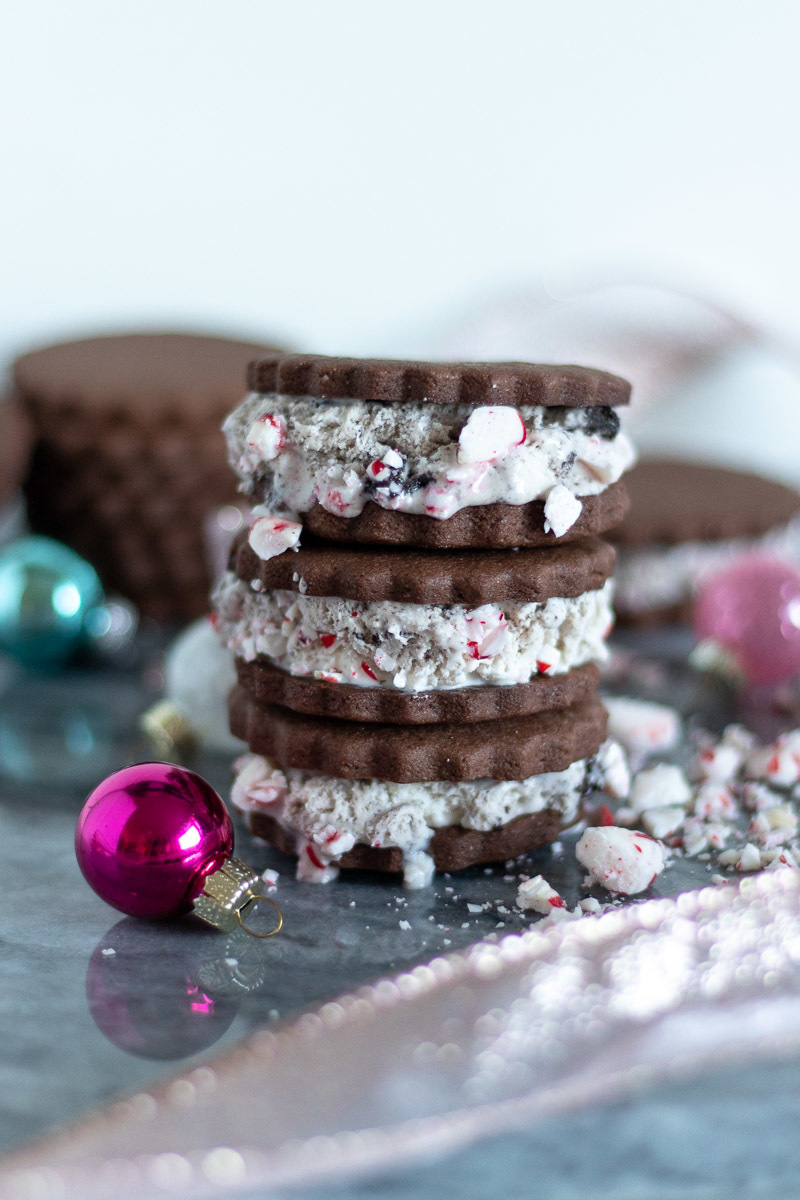 Celebrate the Season with Peppermint Christmas Cookie Ice Cream Sandwiches