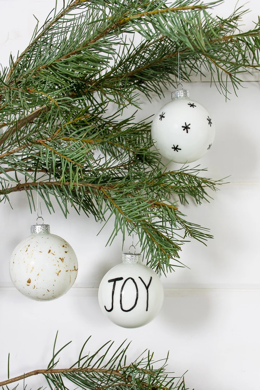 Scandi Christmas ornament makeover