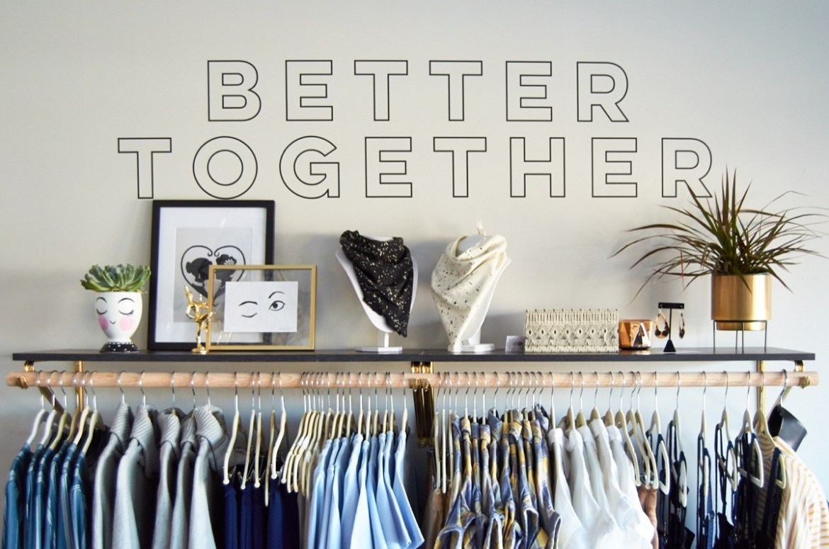 Better Together Vinyl Wall Decal Application