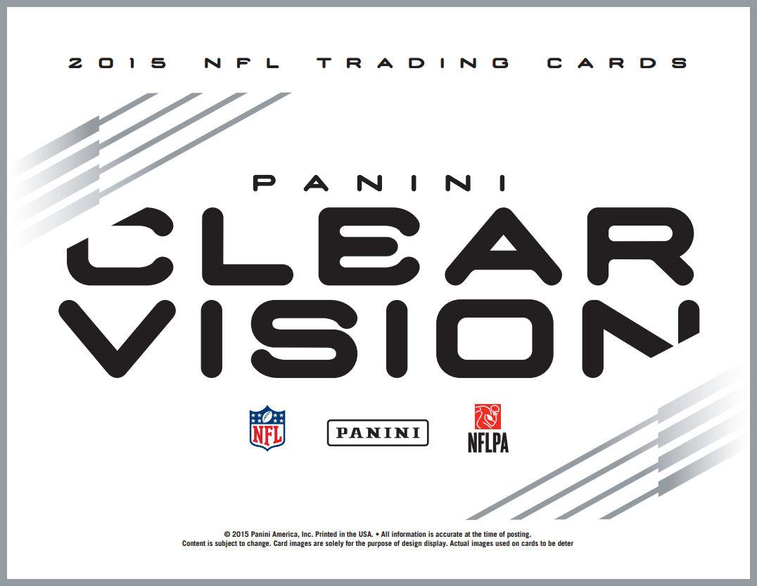 Panini Clear Vision Football Hobby Box Presell