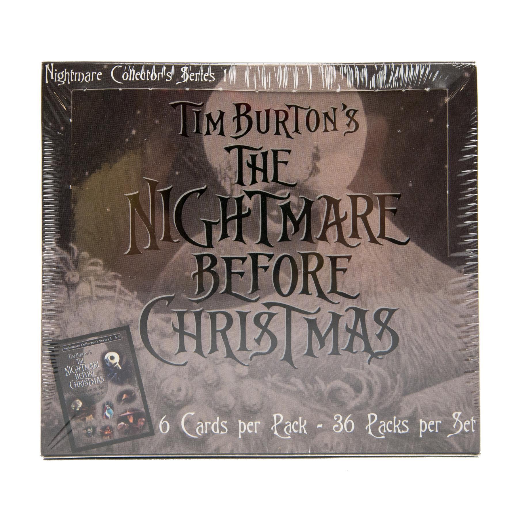 Nightmare Before Christmas Movie Trading Cards Box NECA