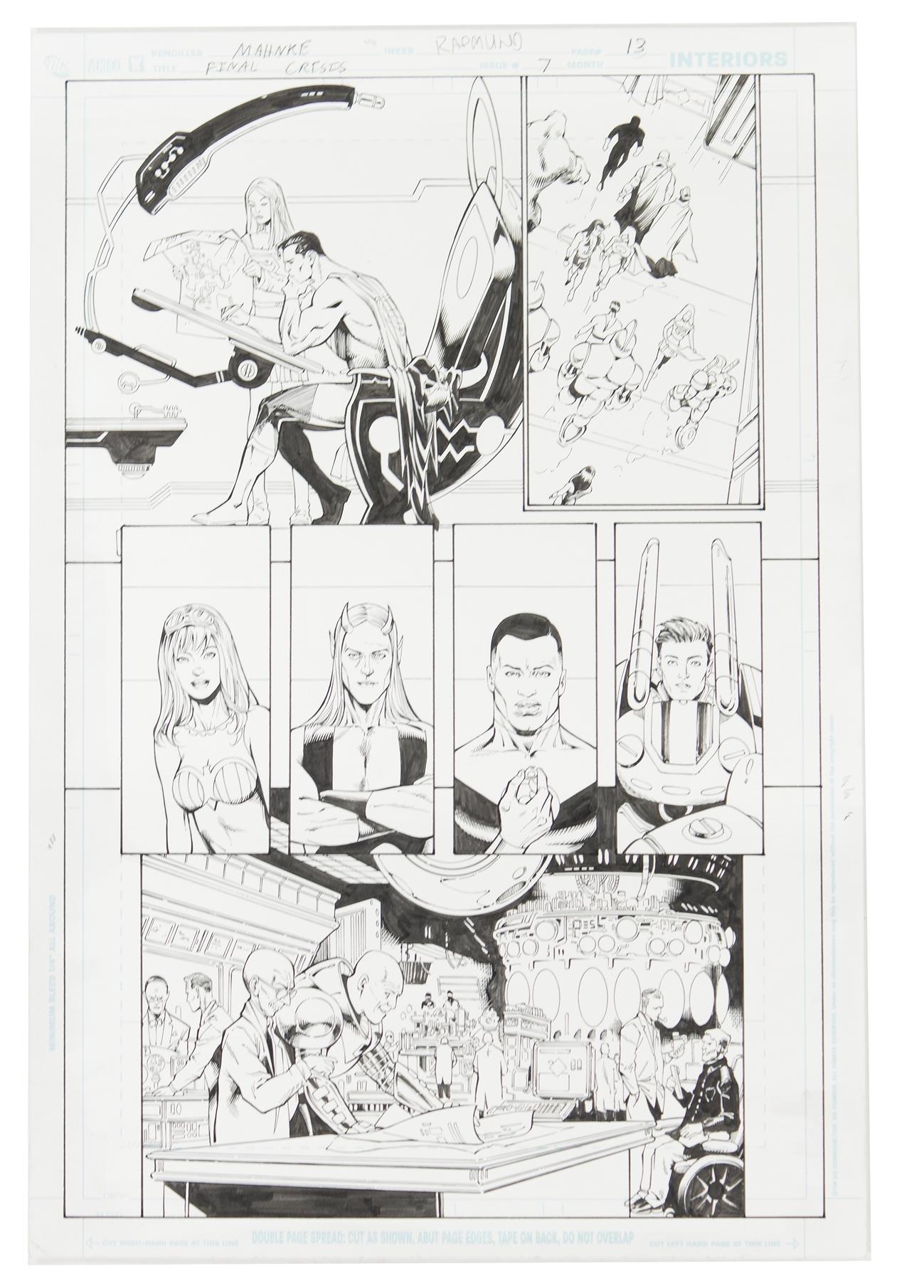 Doug Mahnke Final Crisis 7 Original Comic Art