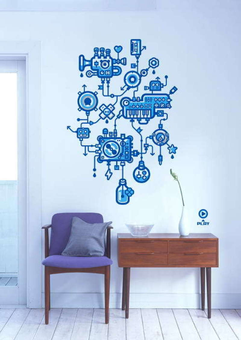 Decorative, Stylish And Creative Stickers For Wall Decor ... on Creative Wall Design Ideas  id=39702