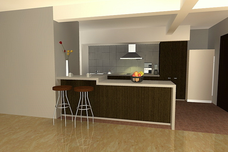 Modern Kitchen Setup With Counter Top Island Cabinet ... on Kitchen Counter Decor Modern  id=52915