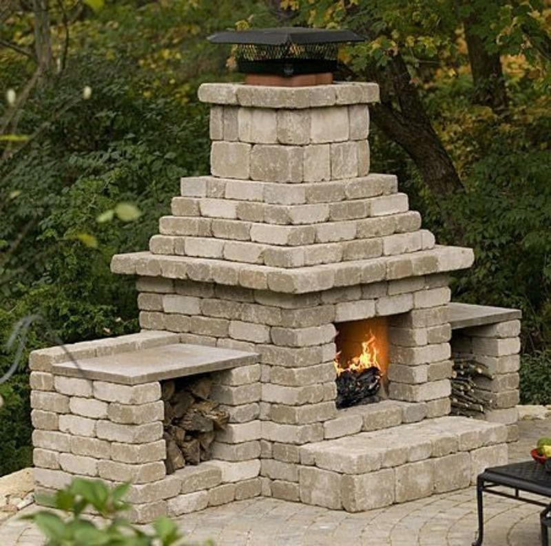 Cinder Block Outdoor Fireplace Plans / design bookmark #24030 on Building Outdoor Fireplace With Cinder Block id=36614