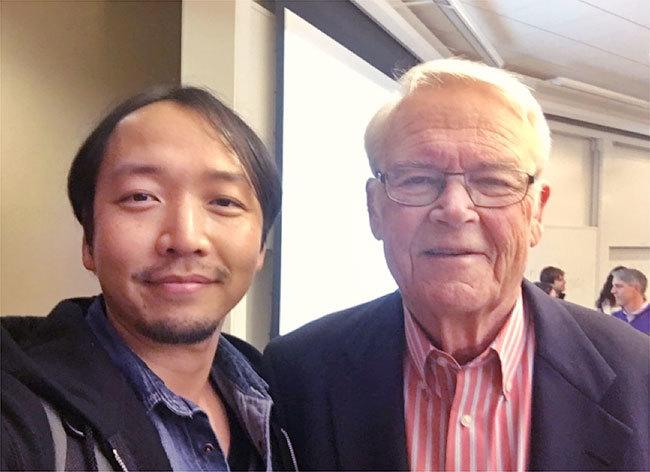 デービッド・アーカー氏と。(UCバークレー大学ビジネススクール、Haas school of business名誉教授)