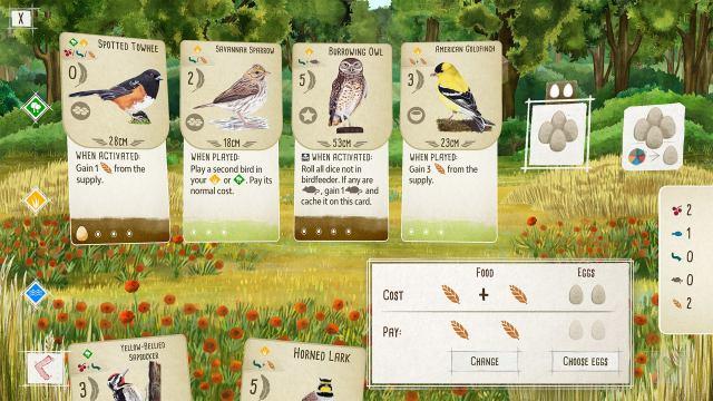 Capture d'écran 2 de la version PC du jeu de plateau Wingspan