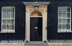 No 10 Downing Street door