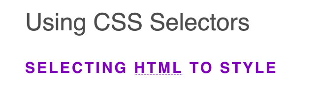 Short bold uppercase headings in purple with an abbreviation text with a dotted underline.
