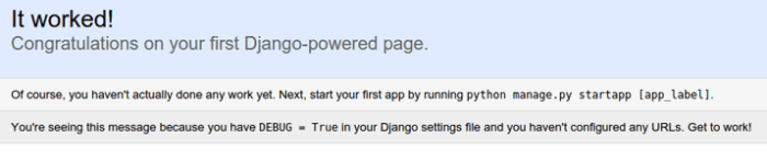 Django default index