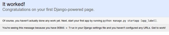 Django default index