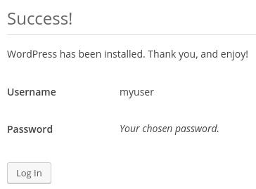 WP login prompt