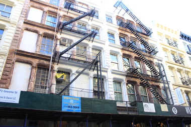 The owner of 69 and 71-73 Greene St. wants to remove the fire escapes from the front and back of both buildings.