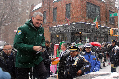 De Blasio Undecided on Whether to March in St. Patrick's ...