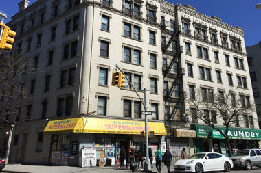 The HDFC co-op at 501 West 143rd St. owes the city more than $3 million and is at risk of being foreclosed. Its shareholders are suing the board for mismanaging the building.