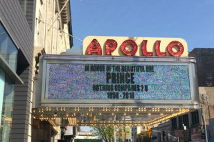The Apollo Theater honored Prince, who died at his Minnesota home Thursday at 57.