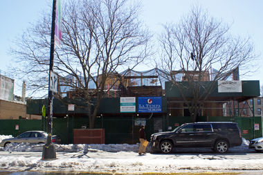 Demolition is underway at the former Elks Lodge building at 21-42 44th Dr. in Court Square.