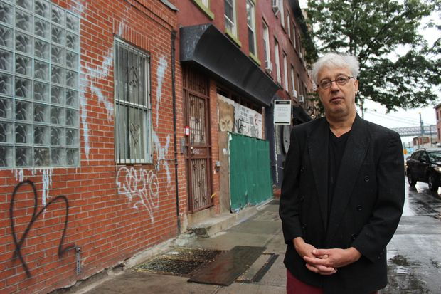 Producer and musician Roger Greenawalt, in front of his 17-year-old music studio on Kent Avenue, has worked with the likes of Iggy Pop and No Doubt over the course of his three-decade career.