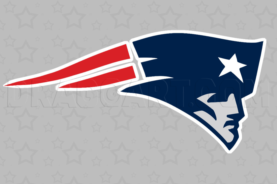 How To Draw The Patriots Logo New England Patriots Step By Step Drawing Guide By Dawn Dragoart Com