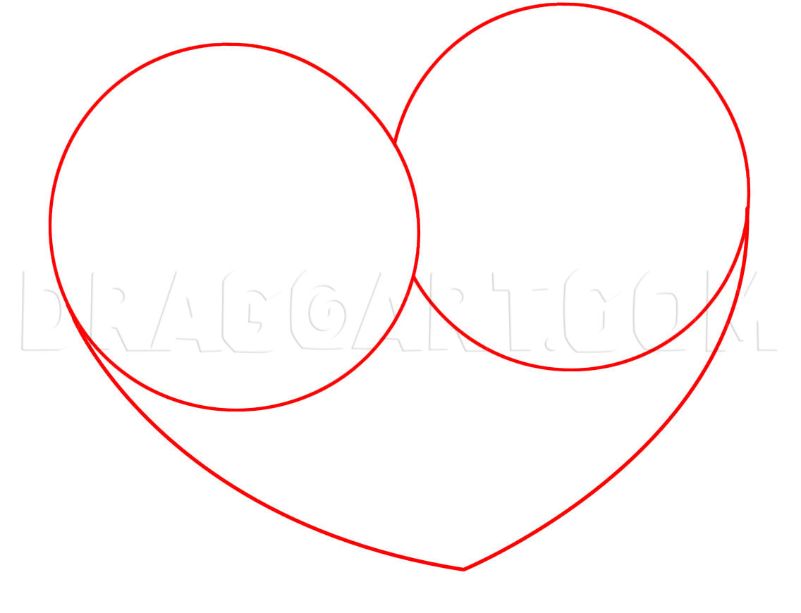 How To Draw A Heart With A Rose Step By Step Drawing Guide By Dawn Dragoart Com
