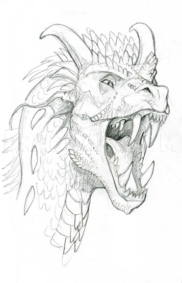 How To Draw A Dragon Head Step By Step Drawing Guide By Sketchpad Dragoart Com