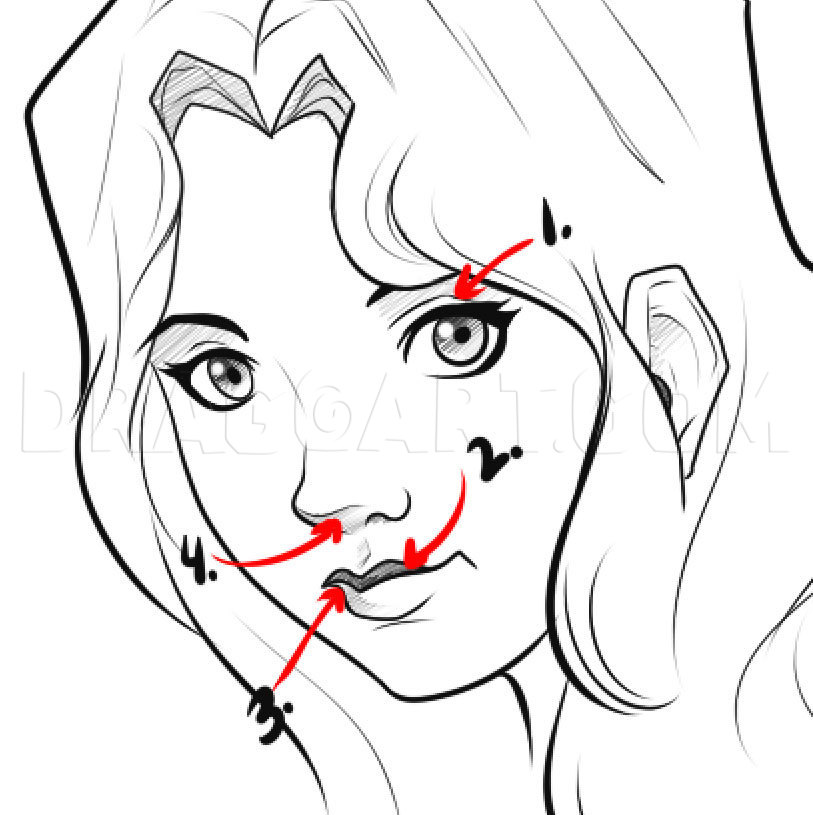 How To Draw An Easy Face Step By Step Drawing Guide By Dawn Dragoart Com