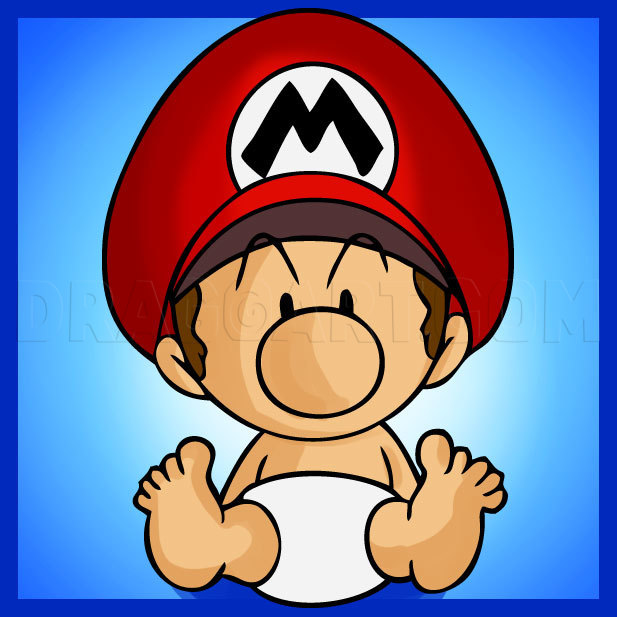 How To Draw Baby Mario Step By Step Drawing Guide By Dawn Dragoart Com