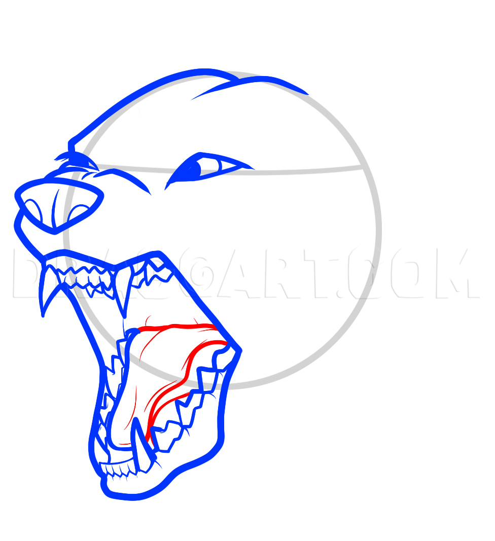How To Draw An Angry Dog Angry Dog Step By Step Drawing Guide By Dawn Dragoart Com