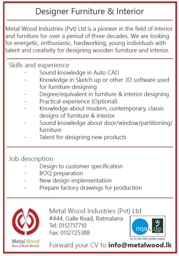 Interior Design Job Vacancies