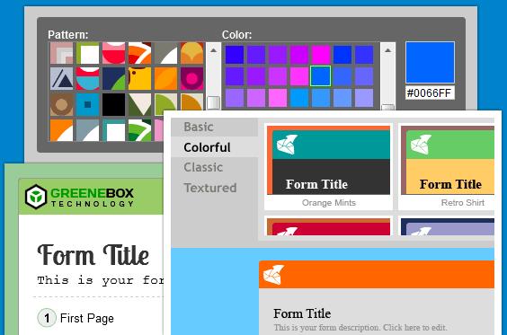 Website forms builder