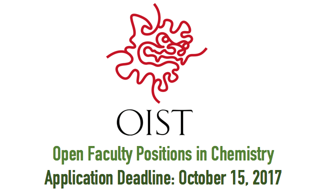 Open Faculty Positions in Chemistry@OIST
