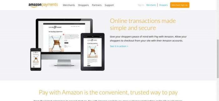 Custo Payments Online e On Mobile - Pagamentos Amazon