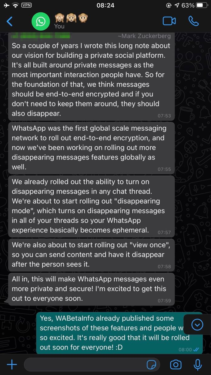 1622822462 Wa Conversation 6 Whatsapp'S Upcoming Features Include Multiple-Device Use, With More Additions On The Way