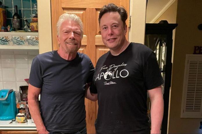 1626196076 1626097059 Richard Elon Elon Musk Will Also Go Into Space Aboard Virgin Galactic, The Richard Branson Company