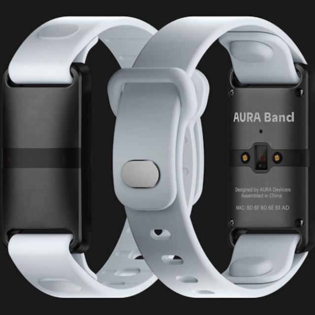 Entrepreneur Aura band fitness tracker
